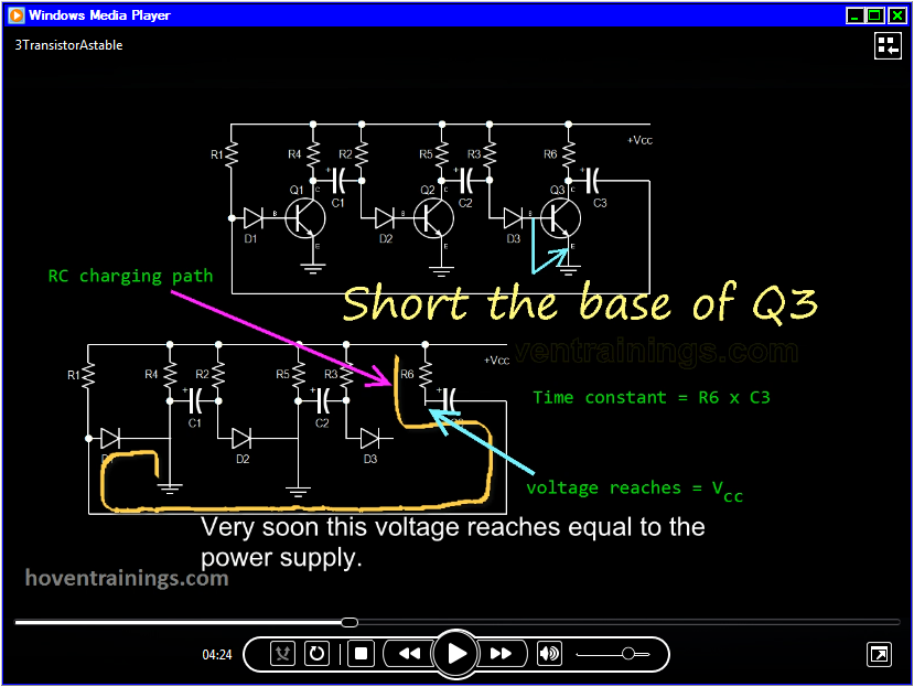 screenshot of the video that explains the operation of this circuit.