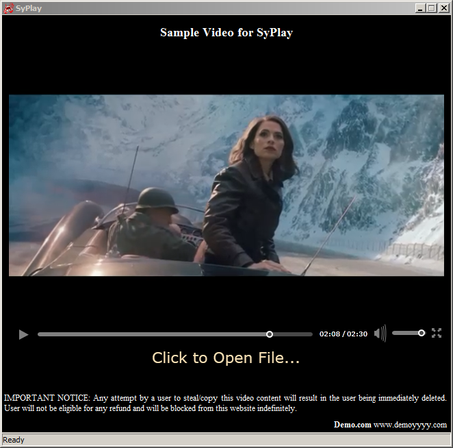 screenshot of the anti piracy, anti screen capture and video protection and encryption software