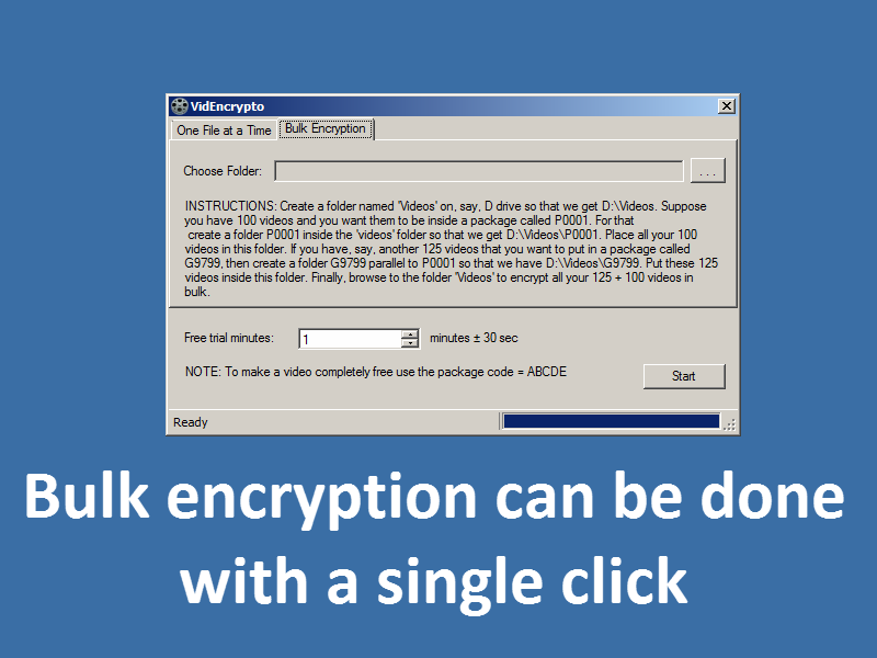 screenshot of how to do bulk encryption